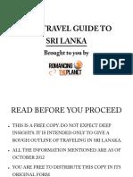 Sri Lanka Free Travel Guide