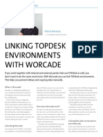 Linking TOPdesk environments with Worcade