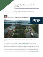 Panamá Estrena Nuevo Canal_acto Reivindicación Patriótica_(26 Jun 2016)