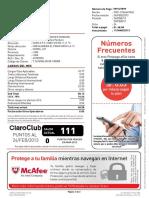 RECIBO CLARO TELEFONIA