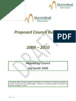MSC Draft Budget 09-10 Sept