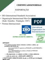 Normas e Acordos Internacionais