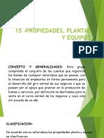15 –Propiedades, Plantas y Equipos