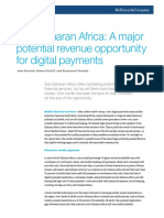 Sub Saharan Africa a Major Potential Revenue Opportunity