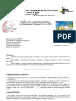 Rapport de la commission de sélection des championnats du monde de va'a 2010
