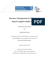 Musbah Shaat Resource Management in Multicarrier Based Cognitive Radio Systems