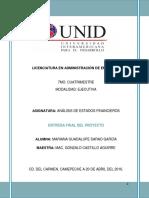 Proyecto Final Análisis de Estados Financieros