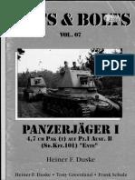 88221773 Nuts and Bolts Vol 07 Panzerjager I 4 7 Cm PAK t Auf Pz I Ausf B Sd Kfz 101 ENTE