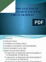 VIBRATION ANALYSIS OF RECTANGULAR PLATE WITH CIRCULAR HOLES