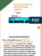 Introduction of Venture Development