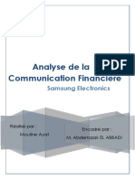 Communication Financière Samsung