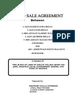 Land Sale Agreement