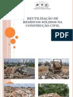 Utilização de resíduos sólidos na construção civil