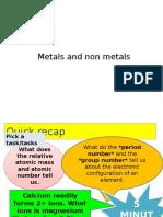 C1.13 Metals and Non-metals