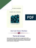 Teoría Del Ensayo (José Luis Gómez-martínez)