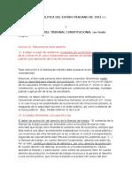 Constitucion Politica Del Estado Peruano de 1993 y Jurisprudencia Del Tribunal Constitucional