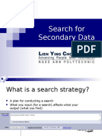 Search for Secondary Data