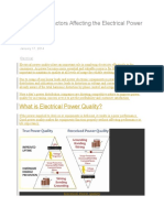 3 Important Factors Affecting the Electrical Power Quality