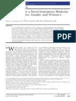 McGregor, Alyson J.; Madsen, Tracy E.; Clyne, Brian; Cone, David -- Foundations for a Novel Emergency Medicine Subspecial