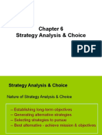 Lecture 6 Strategic Analysis and Choice Important