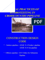 Hydro Testing in Crosscountry Pipeline