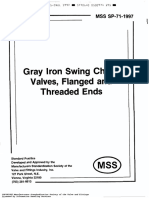 MSS SP-71 1997 Gray Iron Check Valves