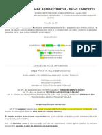 Resumão Improbidade Administrativa - Dicas e Macetes