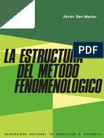 San Martín, Javier - La Estructura Del Método Fenomenológico
