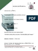 Uso de Materales de Vrdro y Uso de La Balanza Electronca