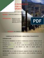 Tuberias de Petroleo y Agua
