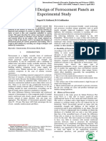 Analysis and Design of Ferrocement Panels an Experimental Study