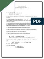 Digital communication-II Assignment