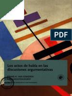 Actos de Habla en Las Discusiones Argumentativas / van Eemeren