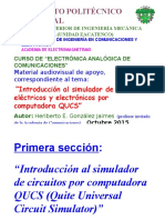 Tutorial del simulador de circuitos QUCS (Heriberto E. González Jaimes, ESIME Zacatenco del IPN, Octubre 2015).pptx