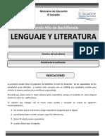 Lenguaje Segundo Nuevo Formato Paes