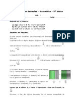 Guia Fracciones- Decimales - 5º Año