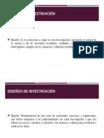 5. Diseños de Investigación
