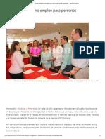 10/08/16 Promueve Gobierno Empleo Para Personas Con Discapacidad - Opinión Sonora