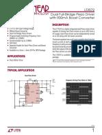 Dual Full-Bridge Piezo Driver with 900mA Boost Converter