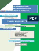 Trabajo de Investigacion - Análisis Sísmico en Pórticos