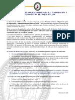 Normas Presentación de Trabajos en ADE