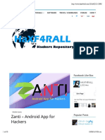 Zanti - Android App for Hackers - Haxf4rall