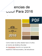 Tendencias de Color Para 2016