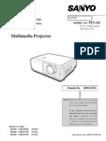 Sanyo PLV-Z4 Service Manual