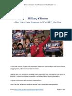 Hillary Clinton - Her Voice in VOA-ERD