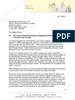 Children's representative letter to justice minister