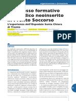 Il Processo Formativo Del Medico Neoinserito in Pronto Soccorso [8 p]
