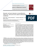 Dynamic and post-dynamic recrystallization under hot, cold and severe plastic deformation conditions