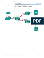 Troubleshooting IPv4 and IPv6 Static Route