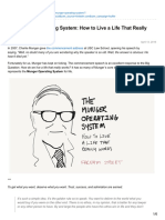 The Munger Operating System - How to Live a Life That Really Works